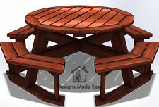 Easy DIY Octagon Round Picnic Table - Design Plans for Woodworking 08