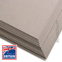 50 pack x A4 Extra Thick Greyboard Crafting & Mounting Card 1000 microns - 1mm