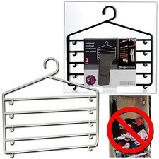 Clothes Trouser Hangers Hanging Plastic Skirt Pants Wardrobe Closet Organiser