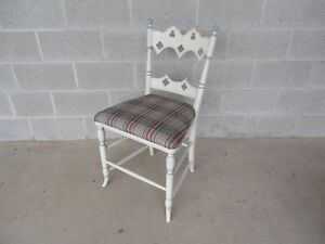 Hickory Chair Co. Gothic Paint Decorated Vanity / Desk Chair