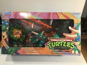 Vintage Teenage Mutant Ninja Turtles Cave Turtle Leo & His Dingy Dino Mint Boxed