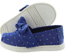 Toms Classic Imperial Size US 9 M EU 26 T Toddler Slip-On Canvas Sneakers Blue