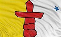 Large 3' x 5. High Quality 100% Polyester Nunavut Flag - Free Shipping