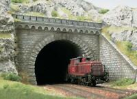 BNIB OO / HO BUSCH 7023 TUNNEL PORTAL FOR DOUBLE TRACK - KIT