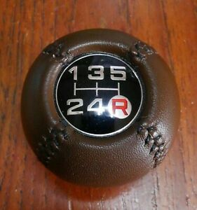 Toyota Old Car Celica LB 5MT Shift Knob Genuine Leather Free Shipping from Japan