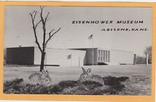 Surreal Real Photo Exaggeration Postcard Superimposed Bunnies Eisenhower Museum