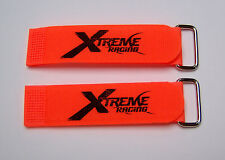 "XTREME RACING 1""X8"" ORANGE BATTERY STRAPS (2) XTR2203 LIPO 1/8 HELICOPTER BUGGY"