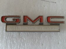 GMC  2500 V-EIGHT emblem ornament logo plaque metal truck