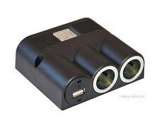 3er Power Enchufe con USB 5v/3a CARGADOR + 2xzigarettenanzünder ENCENDEDORES DE
