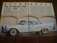 1957 CHRYSLER 300C ***ORIGINAL 1991 ARTICLE***