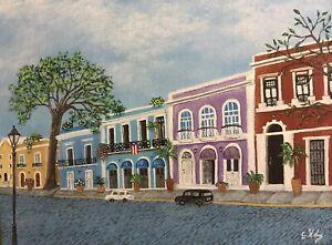 Las Casitas - Puerto Rican Art 9 X 12