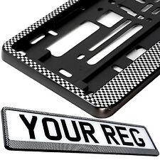 CARBON DESIGN Car Number Plate Surround Holder FOR ANY CAR TRUCK VAN TRAILER