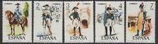 Español de uniformes militares de España SG2322/6 1975 estampillada sin montar o nunca montada