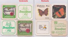 Bierdeckel beer mats coaster - 4x Braunfelser Pils - Schloss-Brauerei Wahl
