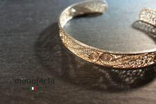 ITALIAN Filigree bracelet HANDMADE|BRACCIALE SCHIAVA ARGENTO DONNA IN FILIGRANA