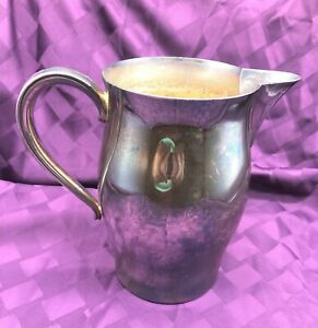 """7 1/2"""" TALL SILVER PLATED PITCHER--PAUL REVRE PRODUCTION"""