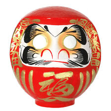 """Japanese 10.25""""H Red Daruma Doll Papermache Rich Success Business Made in Japan"""