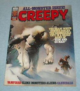 1977 WARREN CREEPY HORROR COMICS MAGAZINE # 85 KEN KELLY COVER ALL MONSTER ISSUE