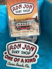 GREENLIGHT RON JON SURF SHOP VW Woody Samba BUS FreeSurf Shop Sticker!! Sold Out