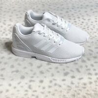 Adidas ZX Flux Running Shoes Sneakers Youth Boys Size 1 Cloud White Mesh