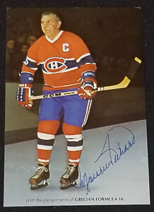 "1975 - MAURICE ""ROCKET"" RICHARD - NHL - MONTREAL CANADIENS - AUTOGRAPH POSTCARD"