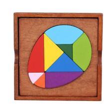 Montessori Educational Toy Kids Development Tangram Wooden Jigsaw Puzzle Y