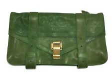 PROENZA SCHOULER GREEN LEATHER CLUTCH, $995