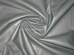 ROXA Real Lambskin Grey Soft Sheep Lamb Nappa 5 SqFt Garment Craft Leather Skins