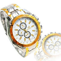 COOL Fashion New Mens Watches Stainless Steel Band Analog Quartz Wrist Watch
