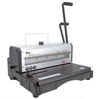 New 40 Holes Metal Wire Punching Binding Machine 130 Sheet Paper Binder Puncher