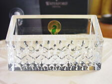 Waterford Crystal LISMORE ESSENCE Business Card Holder Desk Office - NEW / BOX!