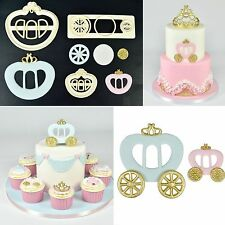 PRINCESS CARRIAGE Set of 2 Cutters Cake Cupcake Decorating