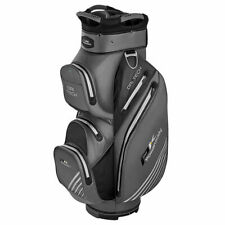 Powakaddy Dri-Tech 100% Waterproof Cart Bag 14 way Divider Titanium/Black/Silver