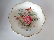 Royal Crown Derby Bone China Derby Posies Flower Shaped Trinket Pin Butter Dish