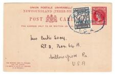 Newfoundland POSTAL CARD-HG:6a-SEVERED BY P.O.(late 1920`s)-PRIVATE