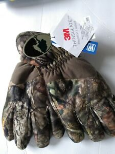 Hot Shot Men's Mossy Oak Camo Gloves Waterproof Winter Hunting XL nWt