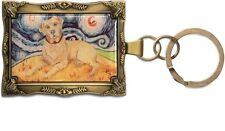 Yellow Labrador Retriever Key Chain Mini Painting Dog Frame Paw Palettes New