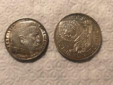 (2) GERMAN Coins 1935 HINDENBURG 5 Mark SILVER + 1987 10 Mark Silver