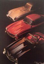 Mercedes Benz 300SL Roadster/300SL Gullwing, SLR Postcard 1st On eBay Car Poster