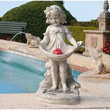 Abigail'S Bountiful Apron Bird Bath Sculpture by Design Toscano
