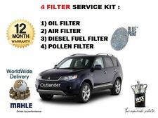 FOR MITSUBISHI OUTLANDER 2.2DT 2006-> SERVICE SET OIL AIR FUEL POLLEN FILTER KIT