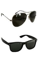 Men's Sunglasses Black wayfarer and Black Aviator (UV400) Combo Free Shipping