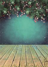 Christmas Background Photo Studio Wooden Floor Photography Backdrops Vinyl 5x7FT
