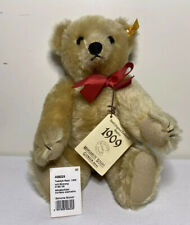 "Vintage 14"" STEIFF 1909 Replica GOLD TEDDY BEAR w/ Red Bow #0166/35 406225"