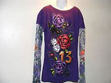 Kids Long Sleeve Shirt Custom Art Work Design Size Small See Through Sleeves
