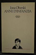 Jona Oberski, ANNI D'INFANZIA, A. Mondadori Editore, 1982.