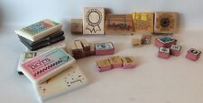 Lot Of Rubber Stamps Ink Pads 30 Pcs Letters School Projects More!