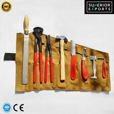 Professional Farriers Tools Hoof Grooming Tool Kit 8 Piece with Free Leather Bag