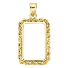 14~KT GOLD ~ ROPE  BEZEL ~ 1~OUNCE BAR SIZE ~ WITH BALE ~HANDMADE~ SALE ~$234.88