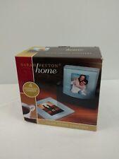 NIB Sarah Peyton Home Solid Glass Photo Coasters set of 4, New